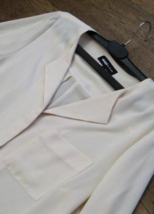 Шифоновая блузка нидерландского бренда eksept by shoeby,длинный рукав,молочный цвет,р.l