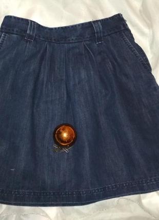 Джинсовая юбка- тюльпан