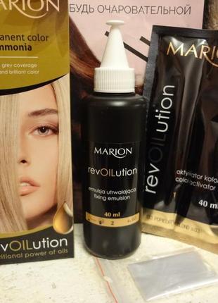 Краска без аммиака с питательными маслами marion revolution, 40 мл польша