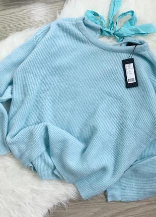 Бірюзовий светрик з бантом