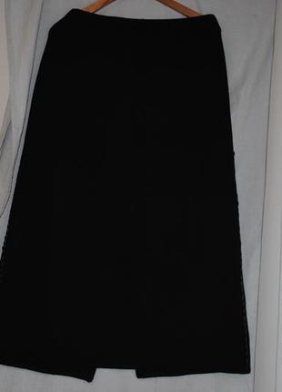 Триоктажная юбка, осень -зима, большойразмер