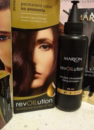 Краска без аммиака с питательными маслами marion revolution, 40 мл
