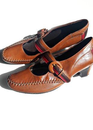 Комфортные кожаные туфли р.37,5