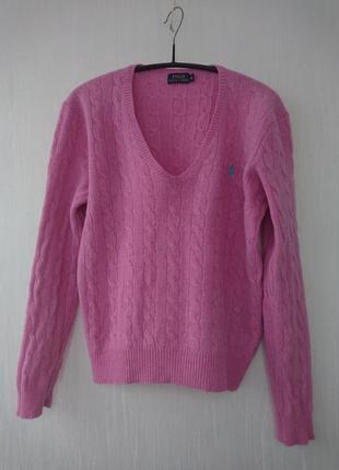 Стильный теплый свитер джемпер шерсть мерино оригинал