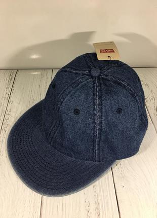 Джинсовая кепка бейсболка levis оригинал новая с биркой снепбек snapback 100% коттон деним