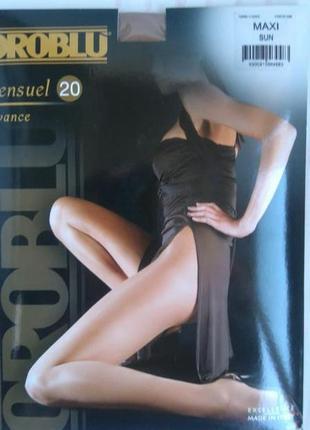 Шикарные фирменные элитные итальянские тонкие колготы oroblu sensuel 20
