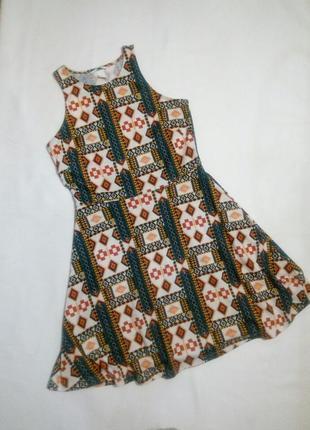 Летнее платье в орнамнт1 фото