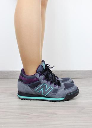 Серые ботинки new balance