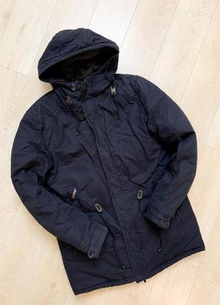 Куртка зимняя очень теплая темно синяя