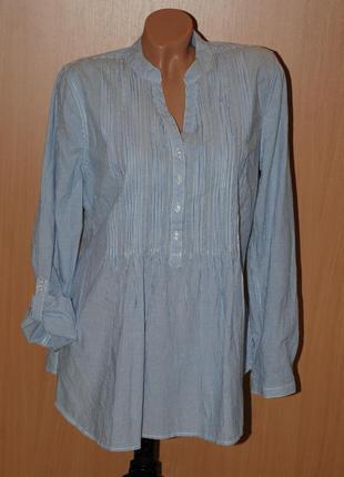 Рубашка от yessica by c&a/100% хлопок/свободный покрой/