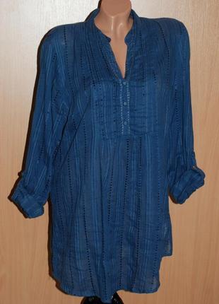 Блуза/рубашка от m&co/ хлопок/  свободный покрой/