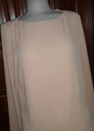 Свободная блуза удлиненная сзади