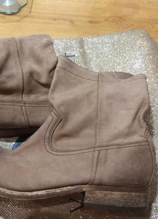 Кожаные деми ботинки 27см португалия1