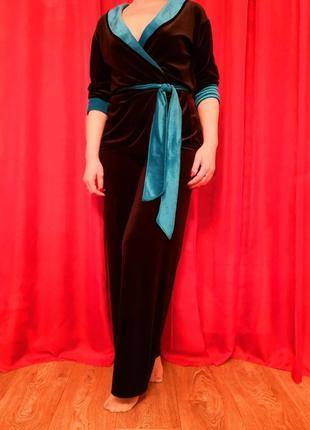 Скидка!!! велюровый костюм в пижамном стиле!