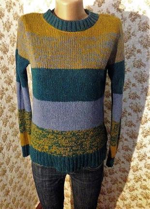 Полосатый свитер с шерстью ламы s-m