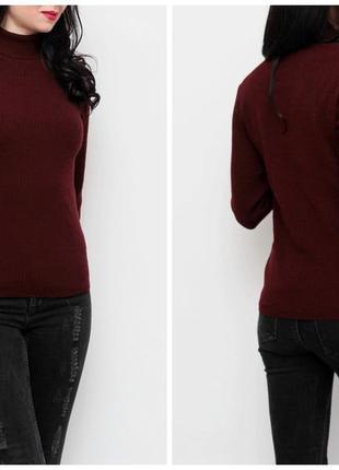 Бордовый свитер в рубчик от atmosphere