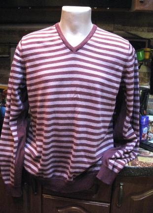 100% шерсть мериноса тонкий свитер джемпер autograph от m&s