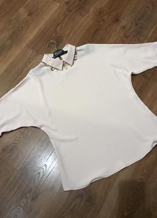 Нарядная блузка пудрового цвета
