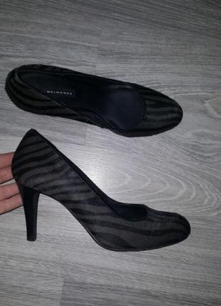 Новые belmondo женские туфли лодочки 37 38 кожаные черные