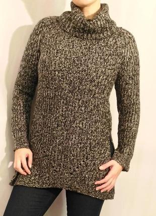 1731/90 меланжевый свитер papaya m l