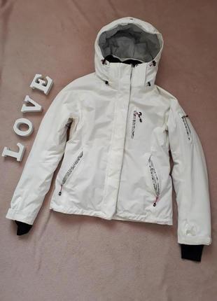 Восхитительная белая зимняя лыжная куртка peak performance hipe primaloft p.m