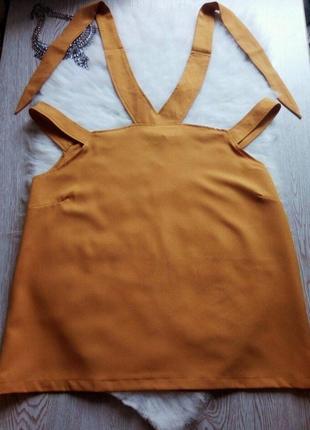 Блуза туника с открытыми плечами и завязками на шее плюс сайз большой размер батал