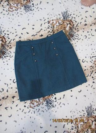 Красивая теплая зимняя юбка с декором