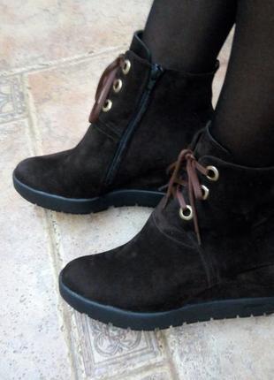 Замшевые ботиночки р.41(27 см)1