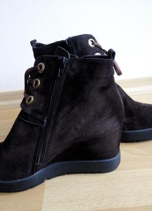 Замшевые ботиночки р.41(27 см)3
