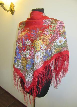 Платок натуральный шелк италия