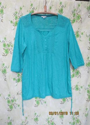Красивая туника блуза/вышивка/хлопок/большой размер uk 18/наш 52