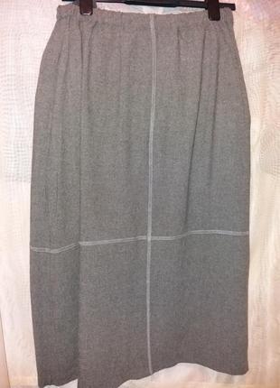 Большая тонкая меланжевая  юбка,48-56разм.