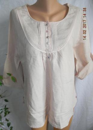 Нежная блуза лен f&f