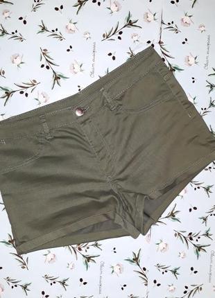Стильные короткие шорты h&m, размер 46-48, цвет хаки