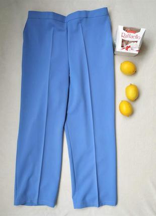 Стильные голубые укороченные брючки, размер 3xl