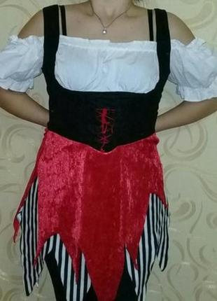 Карнавальное платье пиратки взрослое р.s/m.