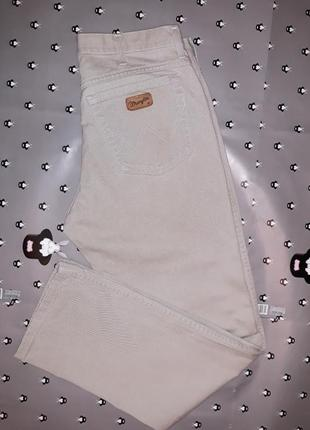 Акция 1+1=3 фирменные плотные олдскул джинсы wrangler, размер 46 - 48