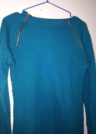 Женский свитер зимний с молниями джемпер кофта женская