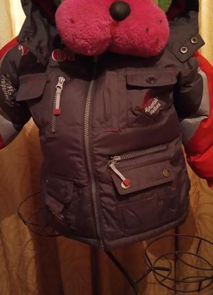 Теплая  зимняя термо куртка toni вoy франция