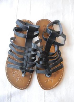 Жен.кожаные сандалии босоножки гладиаторы beppi р.39 ст.25,5