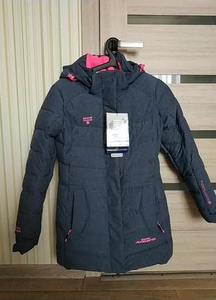 Нереально теплая удлиненная горнолыжная курточка с мембраной snow headquarter