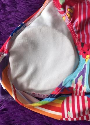Яскравий роздільний купальник з верхом топом5 фото