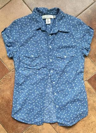Рубашка с коротким рукавом летняя h&m