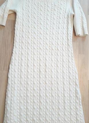 Платье вязаное  косы