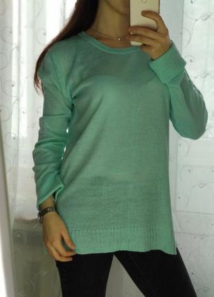 Мягкий удлиненный свитер janina