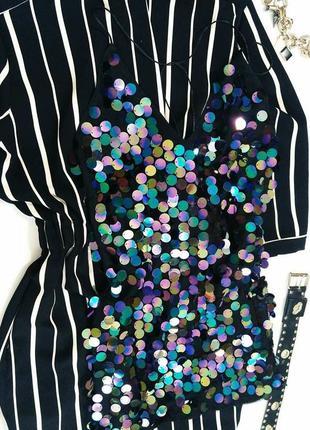 Коротке  плаття з паєтками simplee