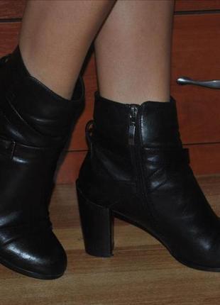 Ботинки кожа деми осень зима кожаные осенние сапоги