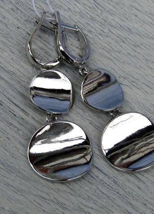 Серебряные серьги монетки