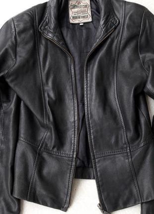 Натуральная кожаная куртка кожанка