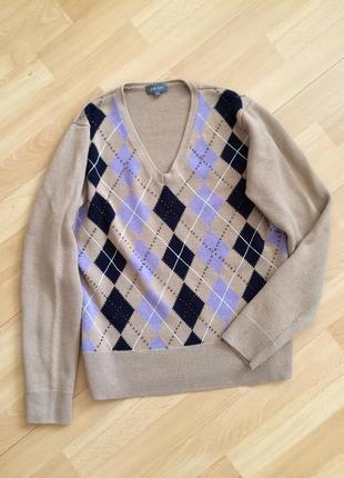 Шерстяной свитер пуловер джемпер marc aurel шерсть мериноса